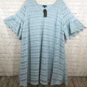 Lane Bryant light blue dress size 22/24 NWT